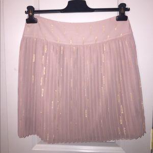 Loft pleated mini sparkle skirt
